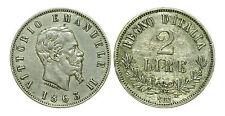 pci0199) Regno Vittorio Emanuele II -  lire 2 1863 NA valore - TONED
