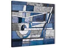 Bleu Indigo Blanc Peinture Abstrait Chambre à Coucher Toile Décorations 1s404l - 79 cm