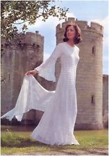 Ladies' 2 Ply Lace Wedding Dress and Stole Vintage Crochet Pattern