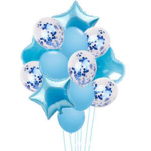 14pcs/set Wedding Birthday Balloons Latex Foil Ballons Kids Boy Christmas Party