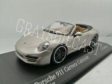 MINICHAMPS Porsche 911 Carrera Cabriolet 2012 Silver Model  Diecast car 1:43