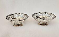 More details for pair of sterling silver bon bon dishes - levi & salaman, birmingham, 1910/11