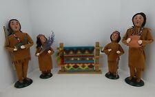 Byers Choice Carolers 2002 2003 Native American Family w/ Indian Blanket Set 5