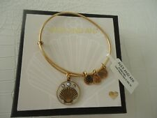 Alex and Ani SHELL III COLOR INFUSION Bangle Russian Gold New W/Tag Card & Box