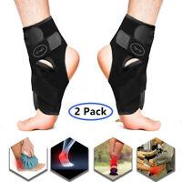 2 Pack Fußbandagen Knöchelbandage Fußgelenk Stütze Bandage Fussbandage Sport