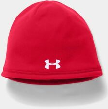 Under Armour Men's Element Beanie, red/white, One Size