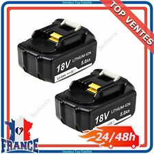 2 Batteries Li-ion BL1860B LED 18V 5.0Ah pour Makita BL1815 BL1840 BL1850 LXT400