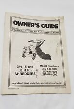 MTD Chipper Shredder Manual Model  240-640-645-648-000 original paper manual