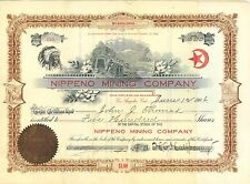 Nippeno Mining Company > 1906 Arizona old stock certificate share