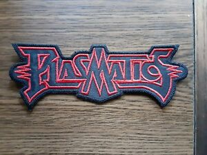 PLASMATICS,SEW ON RED EMBROIDERED PATCH