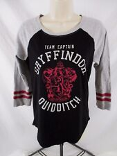Harry Potter Juniors Gryffindor  T-Shirt Sz Small Graphic 3/4 Sleeve CB66N