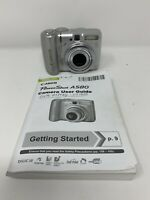 Canon Powershot A580 8.0MP 4X Zoom Digital Camera - Silver W/ User Guide Tested!