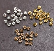 100Pcs Tibetan Silver TIBETAN DAISY FLOWER Spacer Beads Charm Findings 5MM Z3115