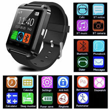 Black Bluetooth Smart Wrist Watch Phone Mate For Android IOS Samsung iPhone HTC