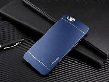 COVER MOTOMO IN ALLUMINIO SPAZZOLATO BRUSHED PER IPHONE 6 PLUS BLU