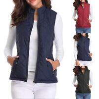Autumn Winter Women's Quilted Padding Vest Jacket Lightweight Quilted Top Grace