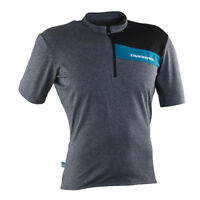 RACE FACE PODIUM JERSEY SS CHARCOAL/TURQUOISE