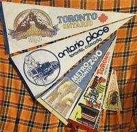 Vintage Toronto Area Pennants Lot 70s-80s