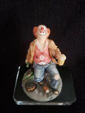 Detailed Miniature Veronese Resin Figurine Drunk Clown - Summit Collection 2004