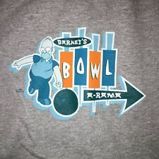 The Simpsons Barney's Bowl A-Rama Gray Cotton T-Shirt Size Large Homer 400