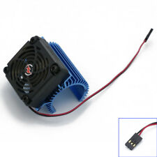 Brand New 1: 8 RC Car Motor Radiator + 5V cooling fan assembly for Hobbywing C4