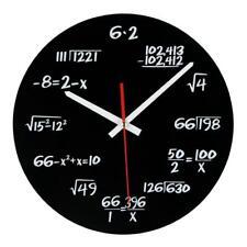 Modern Creative Wall Clock Acrylic Math Art Watch Home Decor Room Accessories