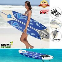 Surfboard Longboard Board Surfing Water Sport Foam Adults with Removable Fins