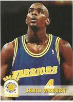Chris Webber Hoops Rookie RC 1993/94 NBA Basketball Card #341