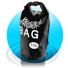 Dry Bag Waterproof Bag 10 L wasserfester Beutel Seesack Segeltasche Schwarz