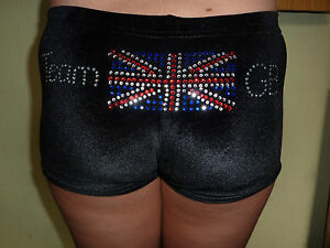 New LILAC LIZARD  gymnastic / dance shorts ( leotard ) TEAM GB, UNION JACK