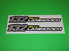 ONE INDUSTRIES BILLY LANINOVICH # 132 MOTOCROSS RIDER NAME STICKERS DECALS