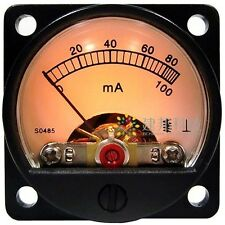 Precision DC 100mA mA DC Ammeter Ammeter screen flow tube tube amp head