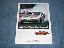 1993 Oldsmobile Cutlass Supreme Vintage Ad Larry Morgan Pro Stock
