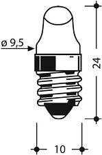 LAMPADINA MINIATURA LENTICOLARE E10 2,2V 250mA 9,5x24 LAMPADA VITE A FILAMENTO