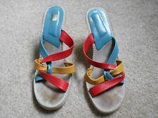 vintage Candies wedge heel slides sz 8