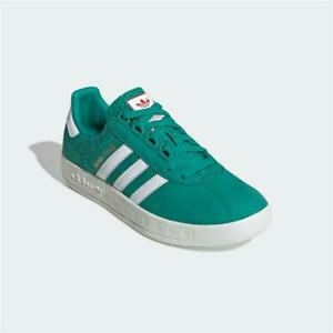 Adidas Trimm Trab Trainers Green White Authentic Brand New