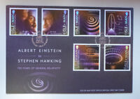 2016 ISLE OF MAN RELATIVITY EINSTEIN HAWKING 6 STAMPS FIRST DAY COVER