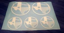Texas State Flag custom vinyl decals stickers, set of 5, many colors available