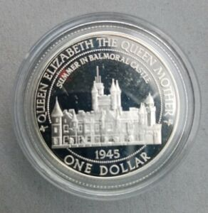 Royal Mint Queen Mother Silver Proof 1/2oz Coin - Summer in Balmoral Castle
