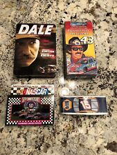 NASCAR LOT TSHIRT CAR VHS DVDS CARDS IN TIN LOT VINTAGE RARE (B-2)