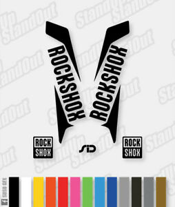 Rockshox SID 2015 2016 Style Replacement Decals - Custom / Fluorescent Colour