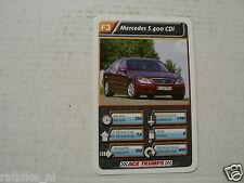 43-LUXURY CARS/AUTO F3 MERCEDES S400 CDI KWARTET KAART, QUARTETT CARD,