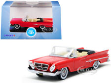 1961 CHRYSLER 300 CONVERTIBLE MARDI GRAS RED 1/87 (HO) SCALE BY OXFORD 87CC61001