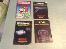 Nintendo, nes lot de 4 anciennes notices