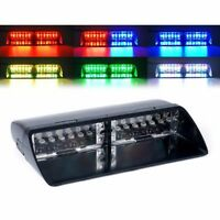 Car 16 LED RGB Color Police Strobe Flash Light Dash Emergency Flashing Light