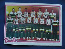 1980-81 Topps Team Pin-Ups Milwaukee Bucks #9 team photo basketball NBA