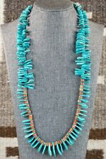 Navajo Turquoise & Spiny Oyster Necklace - Native American
