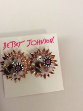 Betsey Johnson  Gold-Tone Woven Flower Button Stud Earrings  $40 #w-23*