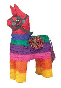 RAINBOW DONKEY PINATA perfect for fiestas of all kinds!
