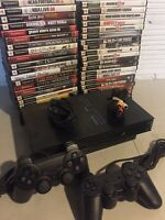 Sony PlayStation 2 PS2 Fat Console System Complete Bundle 2 Controllers 2 Games